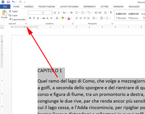 Impaginare con word