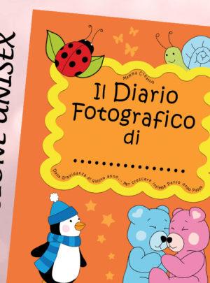 Il Diario fotografico di… Dalla gravidanza al quinto anno… (Unisex Arancione)